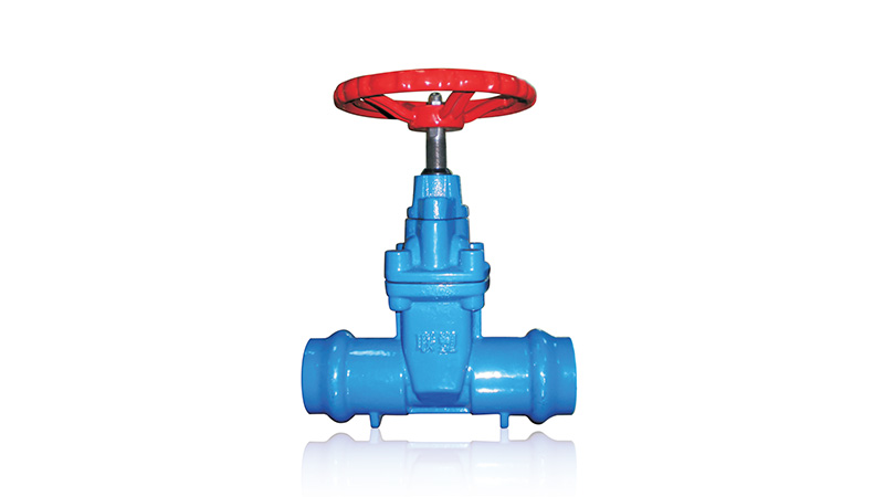 Socketed resilient-seated gate valve