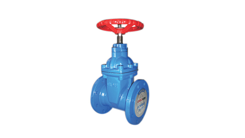 Flanged Resilient-seated Gate Valve with Gatage(Non-rising Stem)