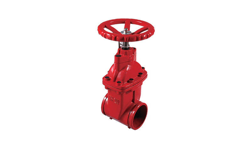 Grooved Resilient-seated Gate Valve with Gatage(Non-rising Stem)