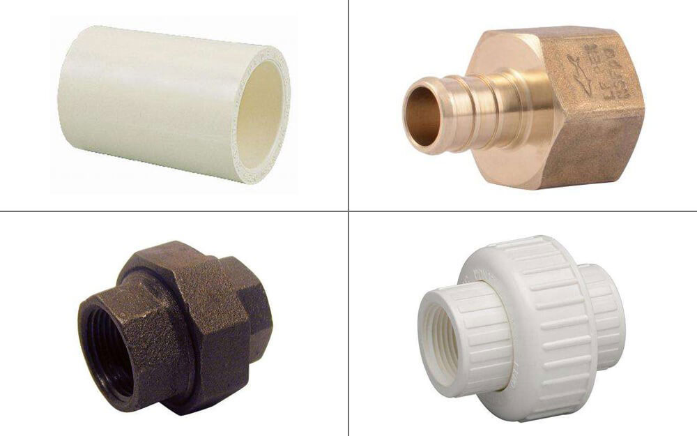 different types of water supply pipe fittings