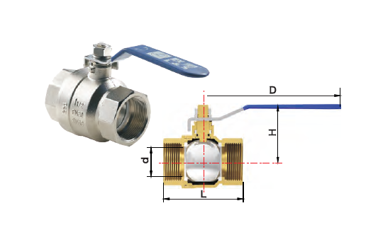 Lesso Nickel Plated Brass Ball Valve