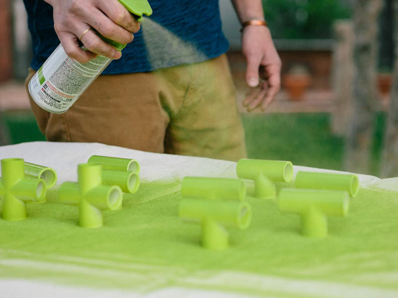 How to paint PVC pipe